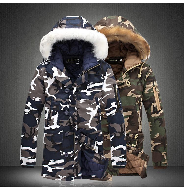 Men's COTTON Camouflage Winter Jacket - The Hoodie Store