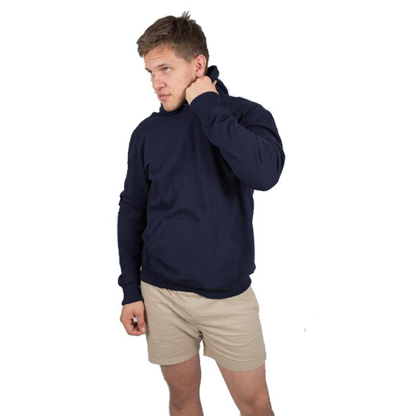 Mens Navy Blue Organic Cotton Hoodie