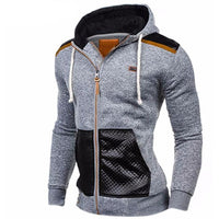 Mens Casual Leather Zipper - The Hoodie Store