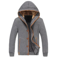 Mens Fleece Button-Up Winter Jacket - The Hoodie Store