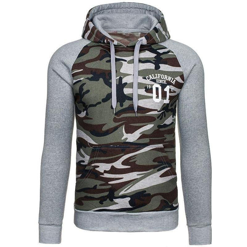 Mens Pullover Camo Hoodie - The Hoodie Store