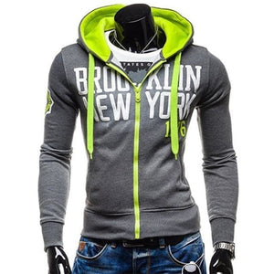 Mens Slim-Fit Brooklyn Hoodie - The Hoodie Store