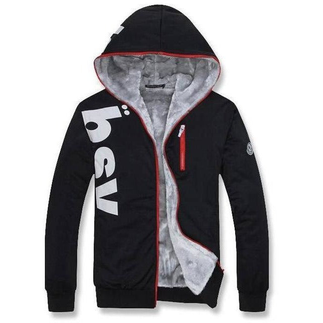Warm fleece lined hoodie