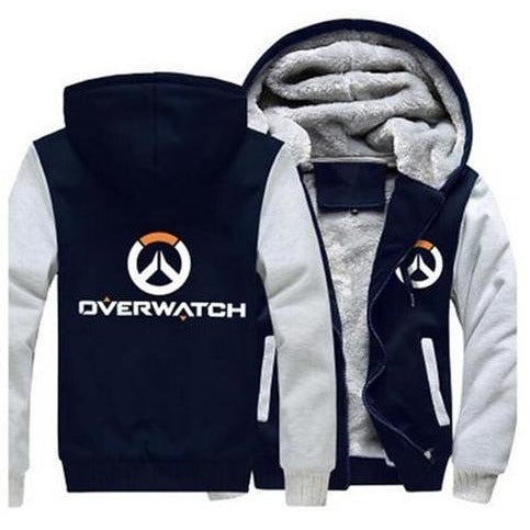 Overwatch Logo Fleece Zipper Hoodie - The Hoodie Store