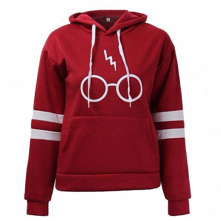 Printed Glasses Fleece Hoodie - The Hoodie Store