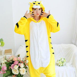 Yellow Tiger Animal Themes Hoodie Men/Women - The Hoodie Store