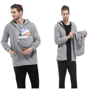 Mums/Dads Baby Kangaroo Detachable Pouch Quality Hoodie - The Hoodie Store