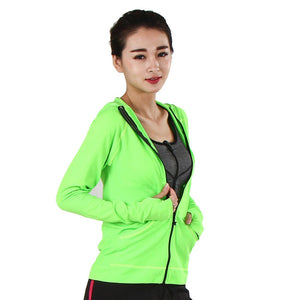 Women's Heal Orange Running Jacket - The Hoodie Store