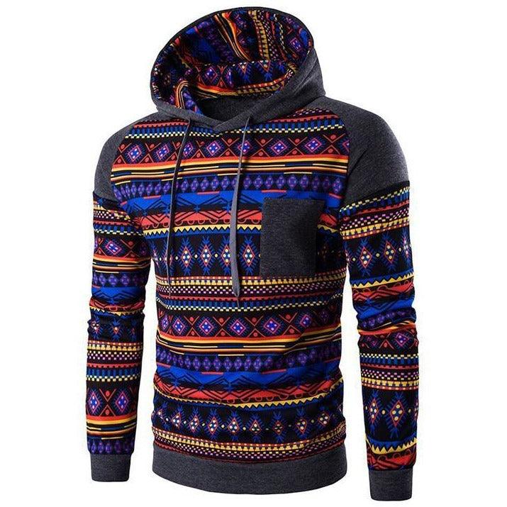 Men's Aztec Tribal Hoodie - The Hoodie Store