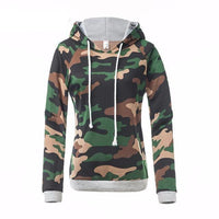 Women's Stylish Forest Camouflage Hoodie - The Hoodie Store