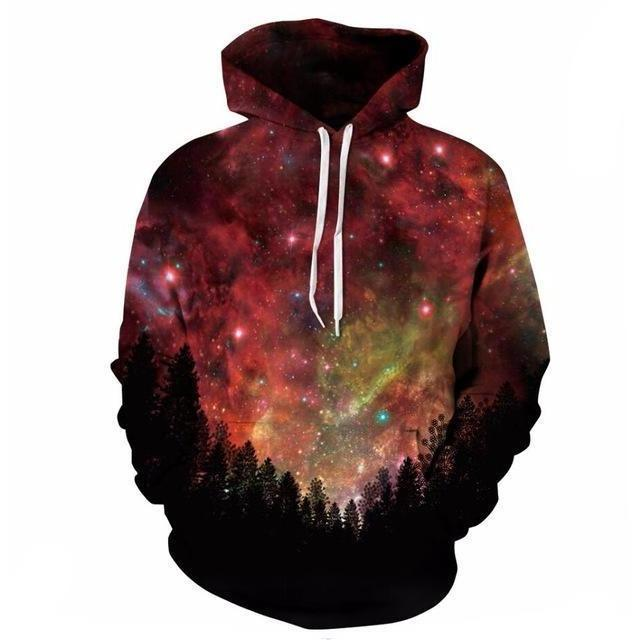 Forest Stars Galaxy Hoodie - The Hoodie Store