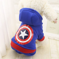 Avengers 4 legs Fleece Hoodies For Dogs - The Hoodie Store