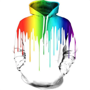 Mens/Womens Dripping Paint Hoodie - The Hoodie Store