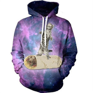 Mens/Womens Cat Galaxy Hoodie - The Hoodie Store
