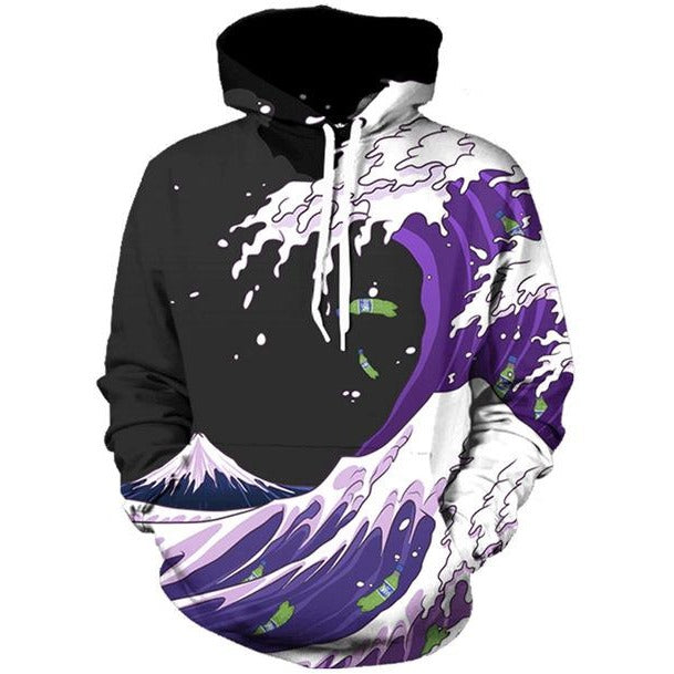 Purple Wave Hoodie - The Hoodie Store