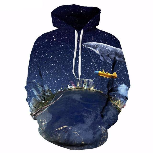 Space Art Illusion Hoodie - The Hoodie Store