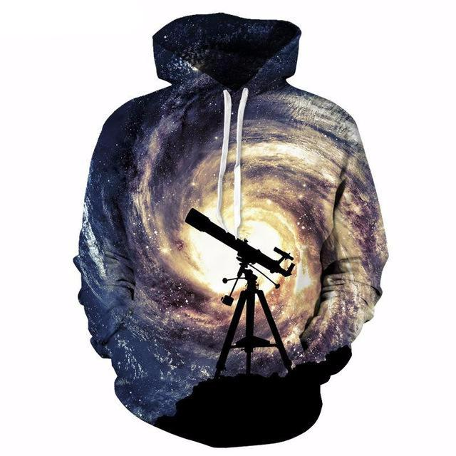 Milky Way Telescope Hoodie - The Hoodie Store