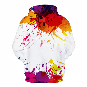 Paint Splash Art B Hoodie - The Hoodie Store