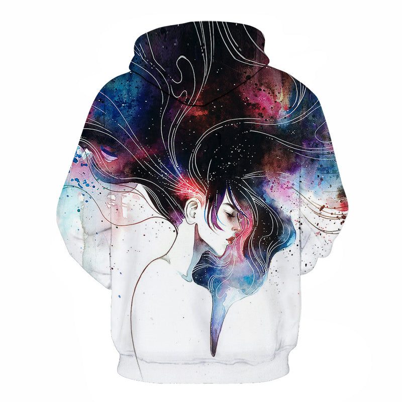 Hair Art Sketch Hoodie - The Hoodie Store