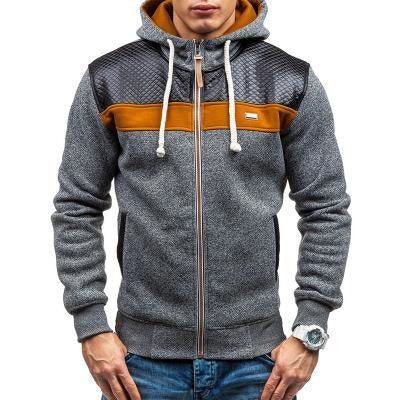 2017 Two Colour Design Fashionable Casual Zipper Hoodie - The Hoodie Store