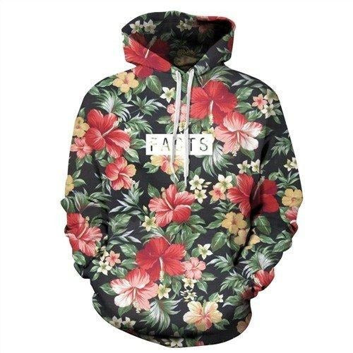 3D Facts Pattern Hoodie - The Hoodie Store