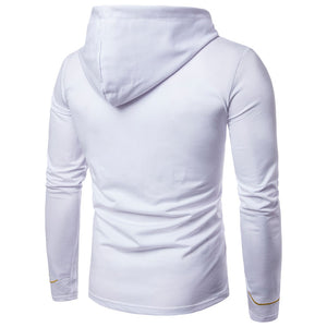 Men's Embroidered Lux Button-Up Hoodie - The Hoodie Store