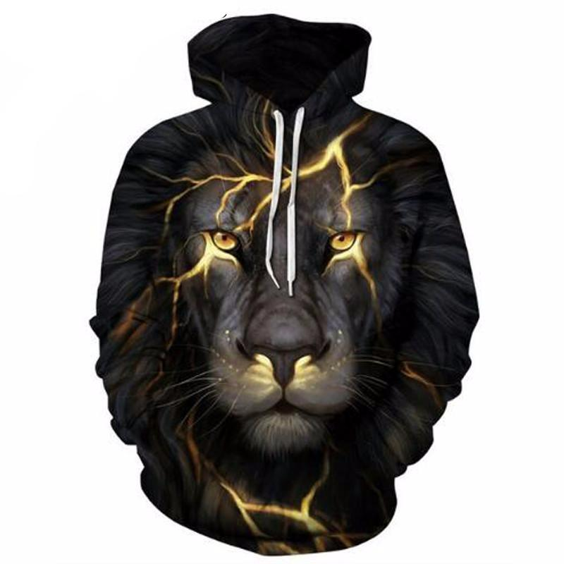 Night Lion Hoodie - The Hoodie Store