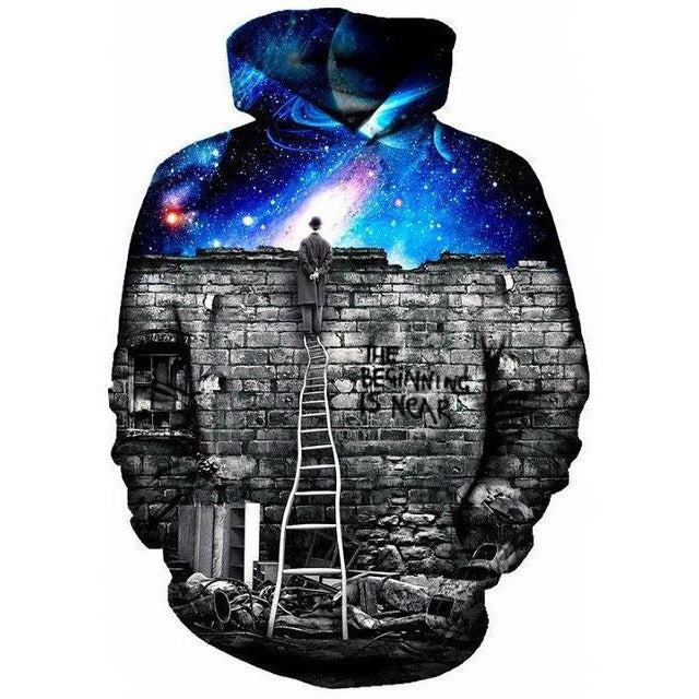 Night Sky Wall Hoodie - The Hoodie Store