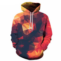 Red Geometric Triangle Glow Hoodie - The Hoodie Store