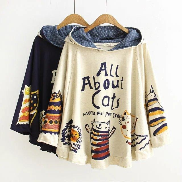 Cats One-Size-Fits-All Warm Winter Pullover - The Hoodie Store