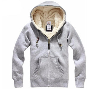 Men's Sheep Velvet Thick Wool Hoodie - The Hoodie Store