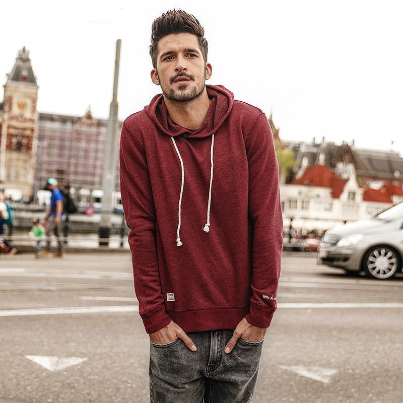 SIMWOOD 2017 Solid Colour Slim-Fit Hoodie - The Hoodie Store