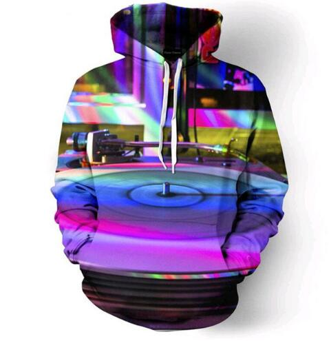 Rainbow Record Player Hoodie - The Hoodie Store