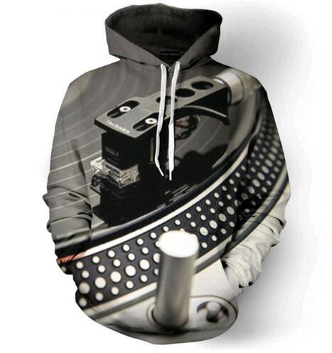 Retro Record Player Hoodie - The Hoodie Store