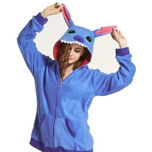 Blue Stitch Animal Theme Hoodie - The Hoodie Store