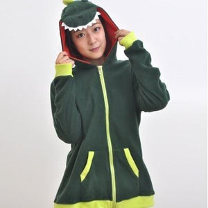 Green Dinosaur Animal Theme Hoodie - The Hoodie Store