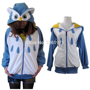Blue Owl Animal Theme Hoodie - The Hoodie Store