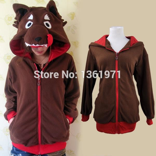 Brown Wolf Animal Theme Hoodie - The Hoodie Store