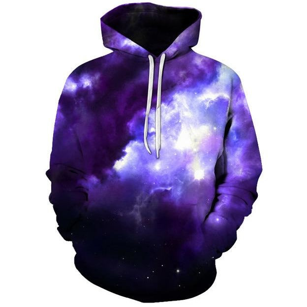 Unisex 3D Colourful Nebula Galaxy Hoodie - The Hoodie Store