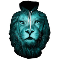 Green Night Lion - The Hoodie Store