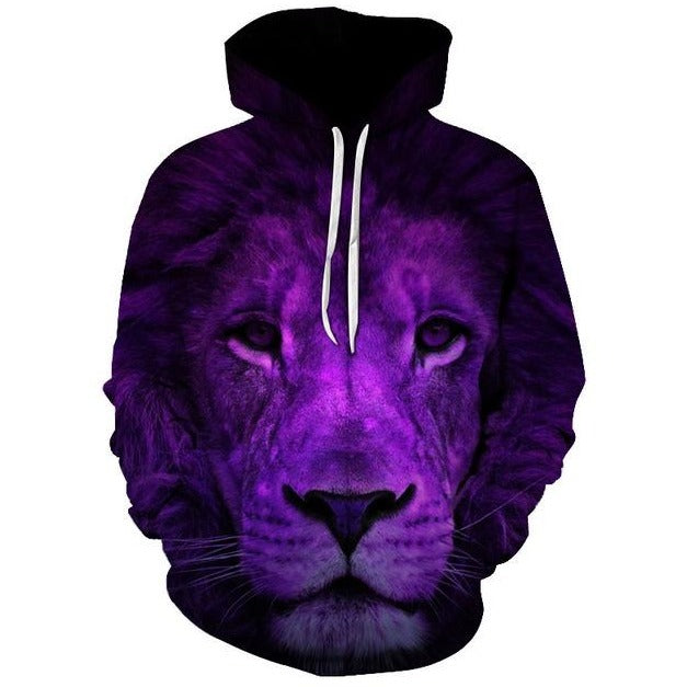 Purple Night Lion - The Hoodie Store