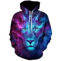 Blue Purple Lion - The Hoodie Store