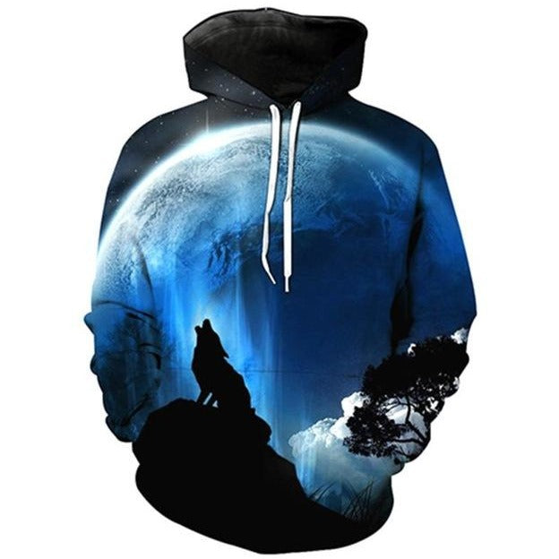 Lone Wolf Blue - The Hoodie Store