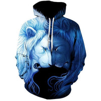 Blue Lion Reflection - The Hoodie Store