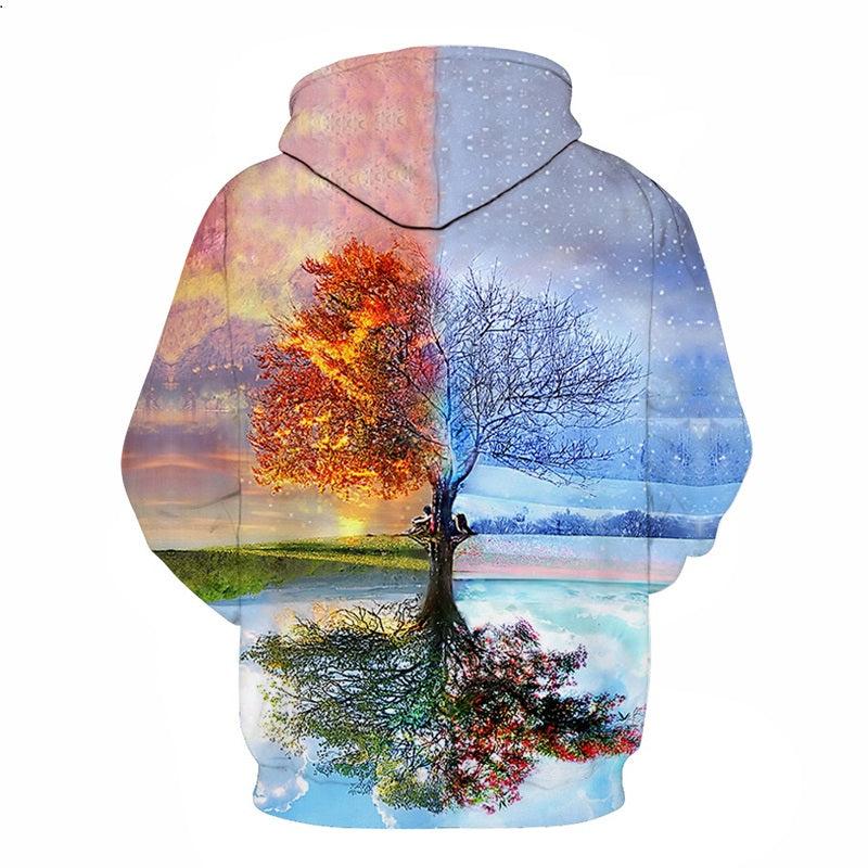 Dawn and Night Tree Hoodie - The Hoodie Store