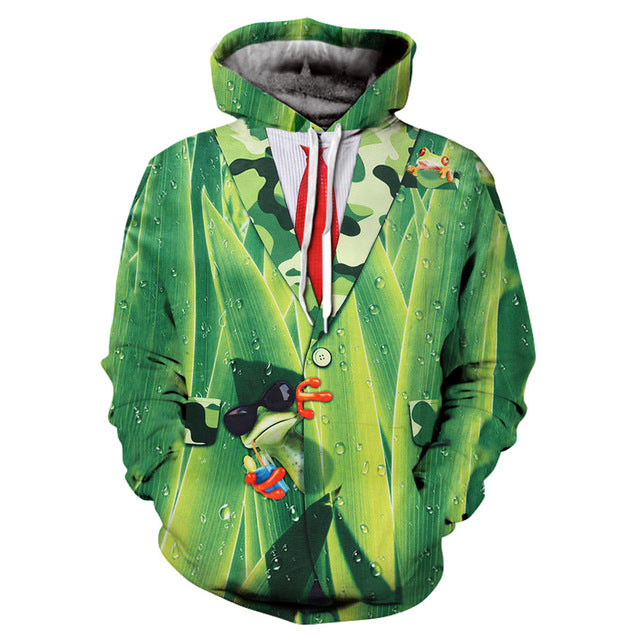 Chill Green Frog - The Hoodie Store