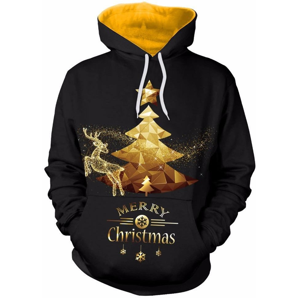 Gold Christmas Tree Hoodie - The Hoodie Store