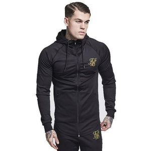 Men's Athletic Fitness Slim-Fit Zipper Jacket - The Hoodie Store