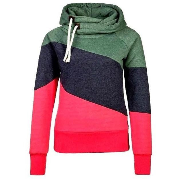 Women's Patchwork Three Colour Design Variations - The Hoodie Store
