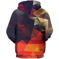 Unisex 3D Geometric Shapes Zip-Up Hoodie - The Hoodie Store